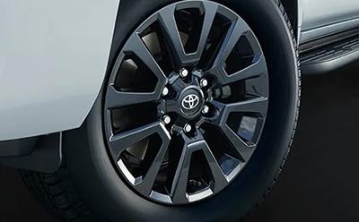 265/60R18タイヤ&18×7½J アルミホイール(ブラック塗装)